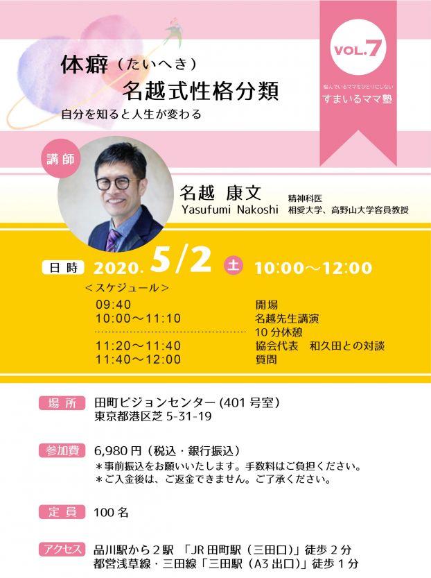 すまいるママ塾 Vol.7 体癖 ~名越式性格分類